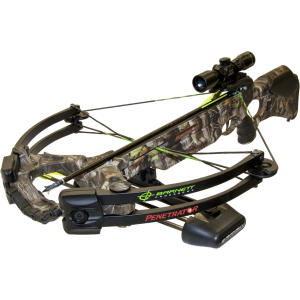 "Barnett 78401 Penetrator Crossbow 350 FPS 4x32mm Scope 20"" Arrow (3) Camo"
