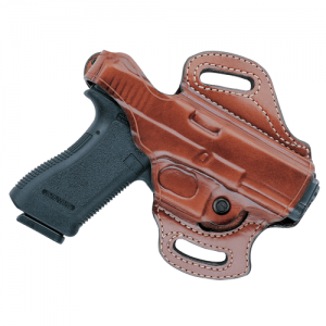 Aker Leather FlatSider XR12 Right-Hand Paddle Holster for Glock 17 in Black - H168BPRU-GL1722