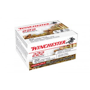 Winchester .22 Long Rifle Hollow Point, 36 Grain (222 Rounds) - 22LR222HP