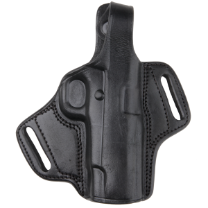 Bulldog LMHL Deluxe Molded Automatic Holster w/Thumb Break RH Large Leather Blk - LMHL