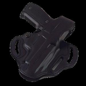 "Galco International Cop 3-Slot Right-Hand Belt Holster for Ruger P85, P8P9, P90, P93D, P94, P95, P97 in Black (1.75"") - CTS438B"