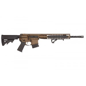 "Lwrc Direct Impingement Rifle, Semi-automatic Rifle, 223 Rem/556nato, 16.1"" Cold Hammer Forged Spiral Fluted Heavy Barrel, 1:7 Twist, Burnt Bronze Finish, Lwrci Compact Stock, Magpul Moe+ Grip, 10rd, Lwrci Modular Free Float Rail, Lwrci Rail Panels, Lwrci"