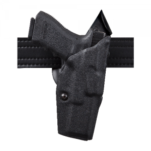 Safariland 6390 ALS Mid-Ride Level I Retention Right-Hand Belt Holster for Springfield 1911-A1 in STX Black Basketweave (W/ Surefire X200) - 6390-560-481