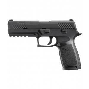 "Sig Sauer P320 Full Size .45 ACP 10+1 4.7"" Pistol in Black Nitron (SIGLITE Night Sights) - 320F45BSS"