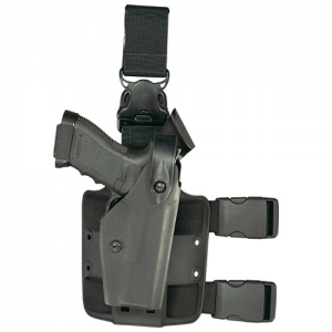 6005 Tactical Gera System Holster With Finish: STX Tactical Gun Fit: Browning Hi Power 9mm (Hammer Down) (4.75 bbl) Hand: Left - 6005-1376-122