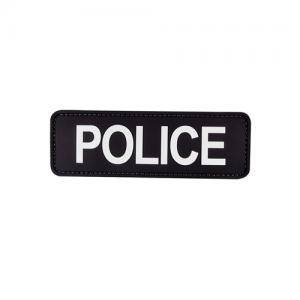 MORALE PATCH, POLICE 6  X 2 , BLK W/ WHT