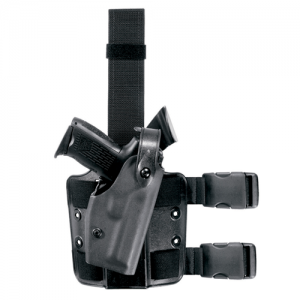 Safariland Model 6004 SLS Tactical Right-Hand Thigh Holster for Glock 17, 22, 23, 31 in OD Green (W/ M3) - 6004-8321-561