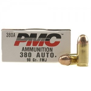 PMC Ammunition Bronze .380 ACP Full Metal Jacket, 90 Grain (50 Rounds) - 380A