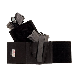 Galco International Cop Ankle Band Right-Hand Ankle Holster for Glock 26, 27, 33/Smith & Wesson 3913, 4013, 469, 669, 6904, 6906 in Black (Large) - CAB2L