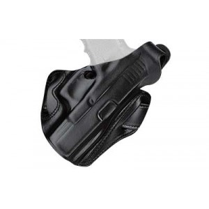 Desantis Gunhide F.A.M.S. Right-Hand Belt Holster for Glock 26, 27, 33/Smith & Wesson M&P 9/40 in Black (W/ Lock Hole) - 01LBAE1Z0