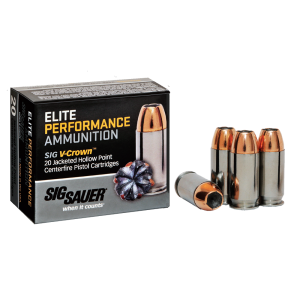 Sig Sauer Elite Performance .45 ACP Jacketed Hollow Point, 200 Grain (20 Rounds) - E45AP1-20