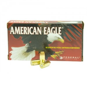 Federal Cartridge American Eagle .40 S&W Full Metal Jacket Flat Point, 180 Grain (50 Rounds) - AE40R1