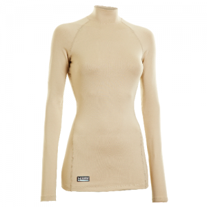 Under Armour Coldgear Infrared Women's Long Sleeve Compression Tee in Desert Sand - Small