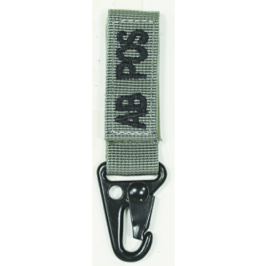 Embroidered Blood Type Tags with Velcro and Metal Clip Blood Type: AB Pos Color: Foliage