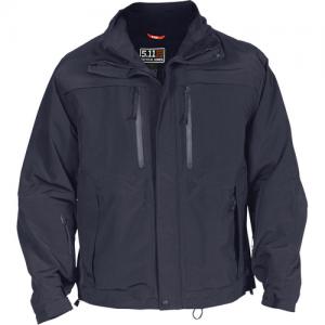5.11 Tactical Valiant Duty Men's Full Zip Coat in Dark Navy - Small
