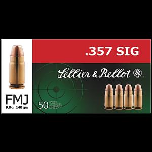 Magtech Ammunition .357 Sig Sauer Full Metal Jacket, 140 Grain (50 Rounds) - SB357SIG