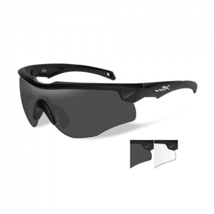 Wiley X - Rogue Lens Color / Frame Color: Smoke Grey & Clear / Matte Black