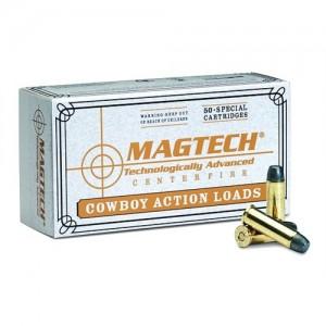 Magtech Ammunition Cowboy Action Cartridges  .44-40 Winchester Lead Flat Nose, 200 Grain (50 Rounds) - 4440C