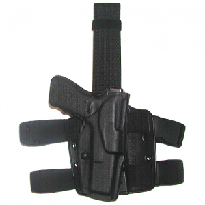6354 ALS TACTICAL THIGH HOLSTER Color: Black Gun Fit: Glock 34 with ITI M3 (5.32  bbl) Hand: Right - 6354-6832-131