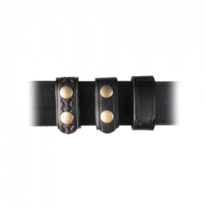 Boston Leather 7500-3B Leather Belt Keepers Combo Pack Deluxe Brass Snaps