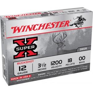 "Winchester Super-X .12 Gauge (2.75"") 00 Buck Shot Lead (15-Rounds) - XB1200VP"
