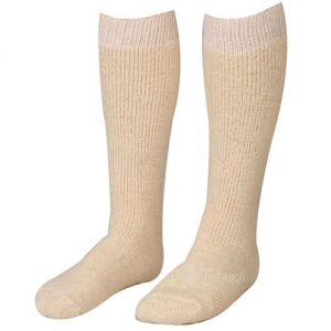 5ive Star - Cushion Sole Socks Size: Large Color: Tan