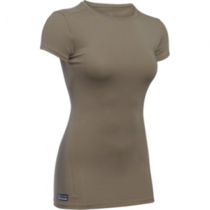 Under Armour Heatgear Women's Compression Shirt in Federal Tan - Small