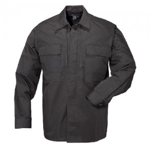 5.11 Tactical Taclite TDU Men's Long Sleeve Shirt in Black - Large
