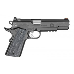 "Springfield Range Officer Elite, Operator, Semi-automatic, 1911, Full Size, 10mm , 5"" Match Grade Barrel, Steel Frame, Black T Finish, G10 Black Grips, 2-8rd Magazines, Ambidextrous Thumb Safety, Fiber Optic Front Sight And Tactical Ledge Rear Sight Pi911"