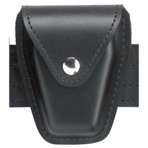 Safariland Top Flap Handcuff Pouch in Black Leather - 190-41HS