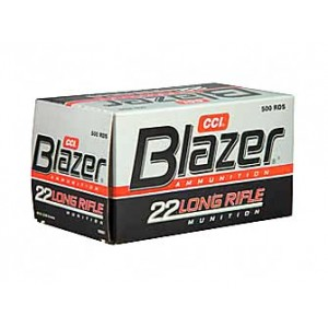 CCI Speer Blazer .22 Long Rifle Lead Round Nose, 40 Grain (500 Rounds) - 21