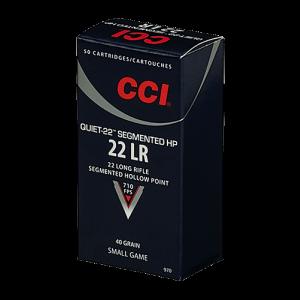 CCI Speer Quiet-22 .22 Long Rifle Segmented Hollow Point, 40 Grain (50 Rounds) - 970