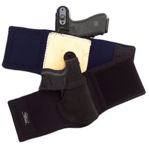 """Galco International Ankle Lite Right-Hand Ankle Holster for Smith & Wesson Shield in Black (5"""") - AL652"""