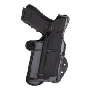 Aker Leather 267 Nightguard Right-Hand Paddle Holster for Sig Sauer P220 in Black (W/ Streamlight M3) - H267BPRU-S226M3