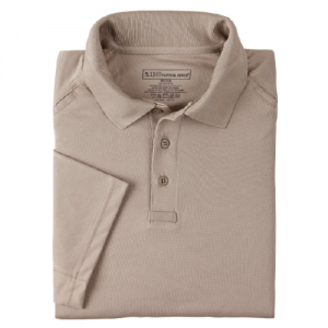 5.11 Tactical Performance Men's Short Sleeve Polo in Silver Tan - X-Large