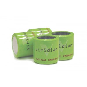 Viridian Green Laser Battery, 1/3n Lithium Battery, 4 Pack, Green Finish Vir-13n-4
