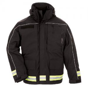 5.11 Tactical Responder Parka Men's Full Zip Coat in Black - Large
