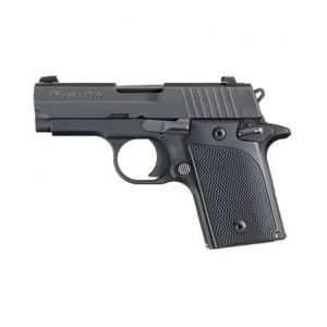 "Sig Sauer P938 Micro-Compact 9mm 6+1 3"" Pistol in Black Nitron Stainless Steel (SIGLITE Night Sights) - 9389BSSAMBI"