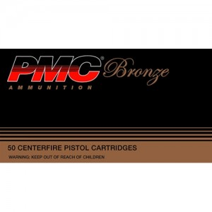 PMC Ammunition Bronze .40 S&W Full Metal Jacket Flat Point, 180 Grain (50 Rounds) - 40E