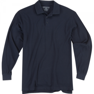 5.11 Tactical Utility Men's Long Sleeve Polo in Dark Navy - X-Large