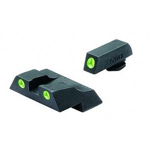 Meprolight Green Front/Orange Rear Tru-Dot Fixed Sights For Glock 26/27 10226O