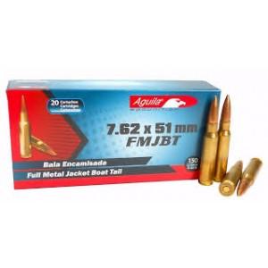 AGUILA .308 Winchester/7.62 NATO Boat Tail, 150 Grain (20 Rounds) - AG308150FMJ20