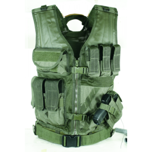 MSP-06 Entry Assault Vest Color: OD Green Size: Medium/XL (fits chest size 37