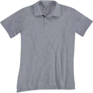 5.11 Tactical Utility Women's Short Sleeve Polo in Heather Grey - X-Large