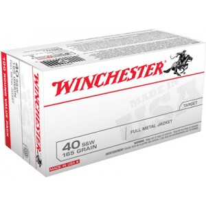 Winchester .40 S&W Full Metal Jacket, 165 Grain (100 Rounds) - USA40SWVP