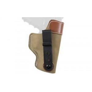 "Desantis Gunhide 106 Sof-Tuk Left-Hand IWB Holster for Glock 19, 23, 36 in Tan Suede Leather (4"") - 106NBB6Z0"