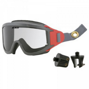 X-Tricator - Two-piece strap w/Snap-On/Snap-Off mounting brackets, Red Speed-Clips, Clear lens