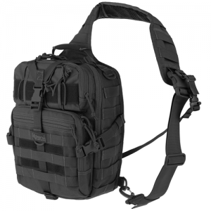 Maxpedition Malaga Gearslinger Waterproof Sling Backpack in Black 1000D Nylon - 0423B