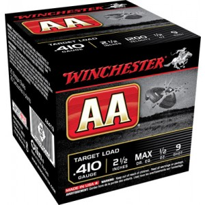 "Winchester AA .410 Gauge (2.5"") 9 Shot Lead (250-Rounds) - AA419"
