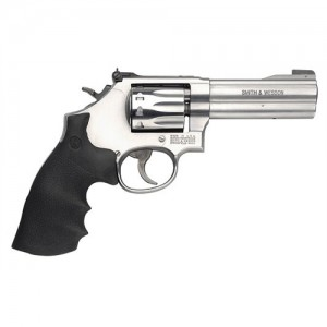 "Smith & Wesson 617 .22 Long Rifle 10-Shot 4"" Revolver in Satin Stainless (K-22 Masterpiece) - 160584"